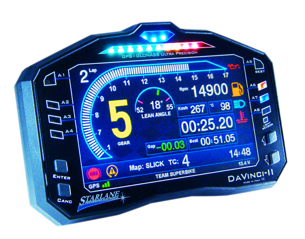 Data acquisition systems and digital dashboard for motorsports